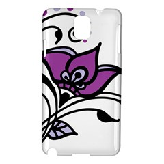 Awareness Flower Samsung Galaxy Note 3 N9005 Hardshell Case by FunWithFibro
