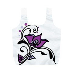 Awareness Flower Reusable Bag (m) by FunWithFibro
