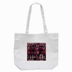 Physical Graffitied Tote Bag (white) by SaraThePixelPixie