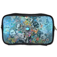 Led Zeppelin Iii Art Travel Toiletry Bag (one Side) by SaraThePixelPixie