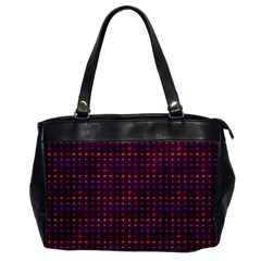 Funky Retro Pattern Oversize Office Handbag (one Side) by SaraThePixelPixie