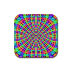 Many Circles Drink Coaster (square)