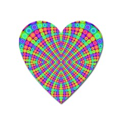 Many Circles Magnet (heart) by SaraThePixelPixie