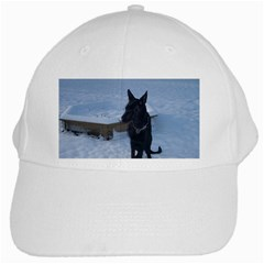 Snowy Gsd White Baseball Cap by StuffOrSomething