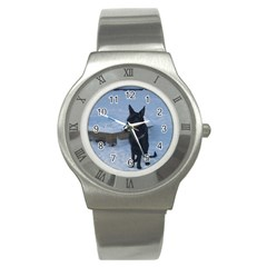 Snowy Gsd Stainless Steel Watch (slim) by StuffOrSomething