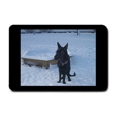 Snowy Gsd Small Door Mat by StuffOrSomething
