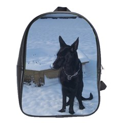 Snowy Gsd School Bag (large) by StuffOrSomething