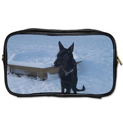 Snowy Gsd Travel Toiletry Bag (one Side) by StuffOrSomething