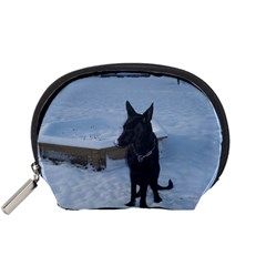 Snowy Gsd Accessory Pouch (small) by StuffOrSomething