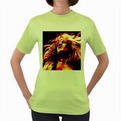 Golden God Women s T Shirt (green) by SaraThePixelPixie