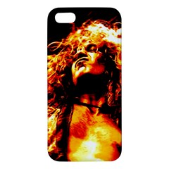 Golden God Apple Iphone 5 Premium Hardshell Case by SaraThePixelPixie
