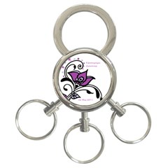 2015 Awareness Day 3 Ring Key Chain by FunWithFibro