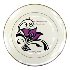 2015 Awareness Day Porcelain Display Plate by FunWithFibro