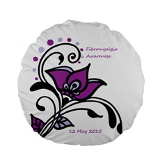 2015 Awareness Day 15  Premium Round Cushion  by FunWithFibro
