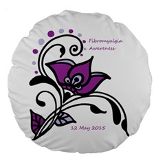 2015 Awareness Day 18  Premium Round Cushion  by FunWithFibro