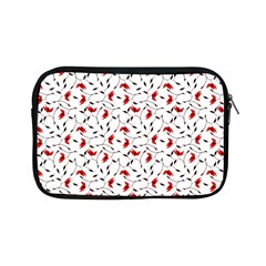 Delicate Red Flower Pattern Apple Ipad Mini Zippered Sleeve by CreaturesStore