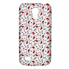 Delicate Red Flower Pattern Samsung Galaxy S4 Mini (gt I9190) Hardshell Case  by CreaturesStore