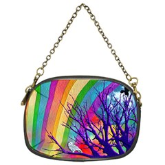Rainbow Moon Chain Purse (one Side) by SaraThePixelPixie