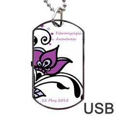 2015 Awareness Day Dog Tag Usb Flash (two Sides) by FunWithFibro