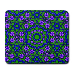 Retro Flower Pattern  Large Mouse Pad (rectangle) by SaraThePixelPixie