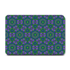 Retro Flower Pattern  Small Door Mat by SaraThePixelPixie