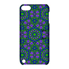 Retro Flower Pattern  Apple Ipod Touch 5 Hardshell Case With Stand by SaraThePixelPixie
