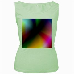 Prism Rainbow Women s Tank Top (green) by StuffOrSomething