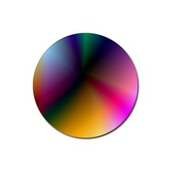 Prism Rainbow Drink Coaster (round) by StuffOrSomething