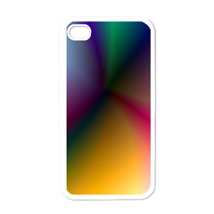 Prism Rainbow Apple Iphone 4 Case (white) by StuffOrSomething