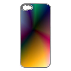 Prism Rainbow Apple Iphone 5 Case (silver) by StuffOrSomething
