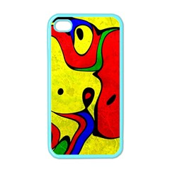 Abstract Apple Iphone 4 Case (color)