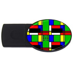 Mondrian 2gb Usb Flash Drive (oval) by Siebenhuehner