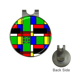 Mondrian Hat Clip With Golf Ball Marker by Siebenhuehner