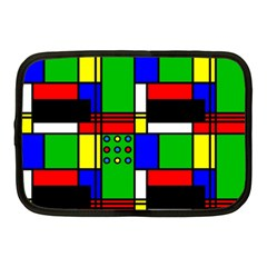 Mondrian Netbook Sleeve (medium) by Siebenhuehner