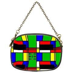 Mondrian Chain Purse (one Side)