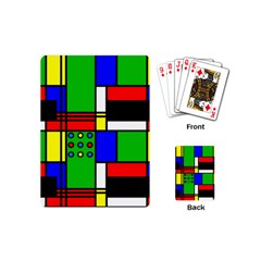 Mondrian Playing Cards (mini) by Siebenhuehner