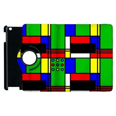 Mondrian Apple Ipad 3/4 Flip 360 Case by Siebenhuehner