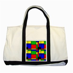 Mondrian Two Toned Tote Bag by Siebenhuehner