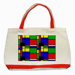 Mondrian Classic Tote Bag (red) by Siebenhuehner