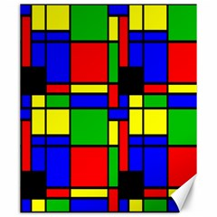 Mondrian Canvas 20  X 24  (unframed) by Siebenhuehner