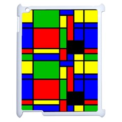 Mondrian Apple Ipad 2 Case (white) by Siebenhuehner