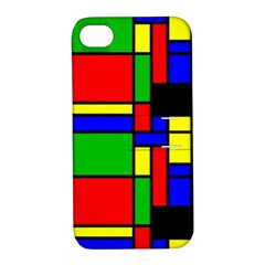 Mondrian Apple Iphone 4/4s Hardshell Case With Stand by Siebenhuehner