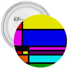 Mondrian 3  Button by Siebenhuehner