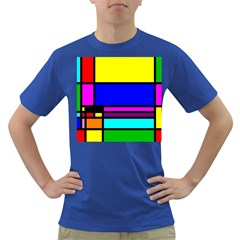 Mondrian Men s T-shirt (colored) by Siebenhuehner