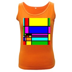 Mondrian Women s Tank Top (dark Colored) by Siebenhuehner