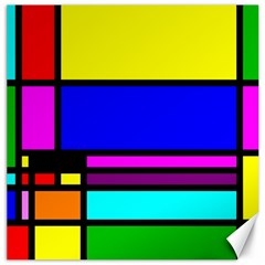 Mondrian Canvas 16  X 16  (unframed) by Siebenhuehner
