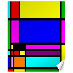 Mondrian Canvas 11  X 14  (unframed) by Siebenhuehner