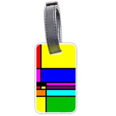 Mondrian Luggage Tag (one Side) by Siebenhuehner