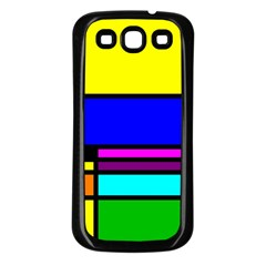 Mondrian Samsung Galaxy S3 Back Case (black) by Siebenhuehner
