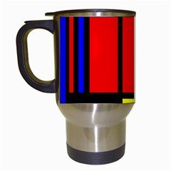 Mondrian Travel Mug (white) by Siebenhuehner